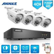 ANNKE 1080N 4CH 720P Home Security HD DVR 4PCS 1.0MP 1200TVL AHD CCTV Camera System 8 Channel Surveillance Kit 1TB HDD