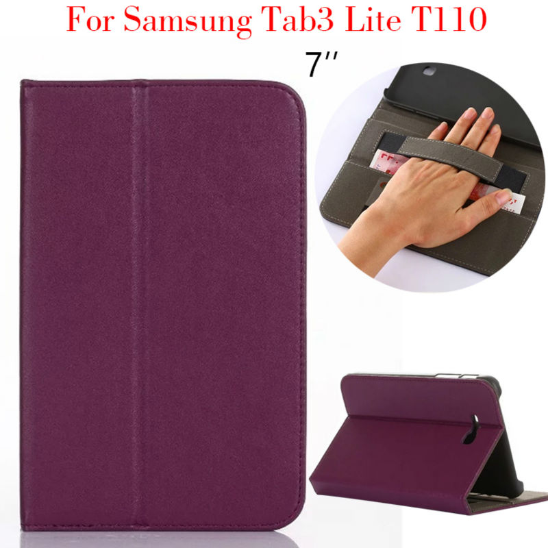 tab 3 lite t110 tablet pu leather case cover for samsung galaxy tab3 lite t110 7 39 39 funda stand. Black Bedroom Furniture Sets. Home Design Ideas