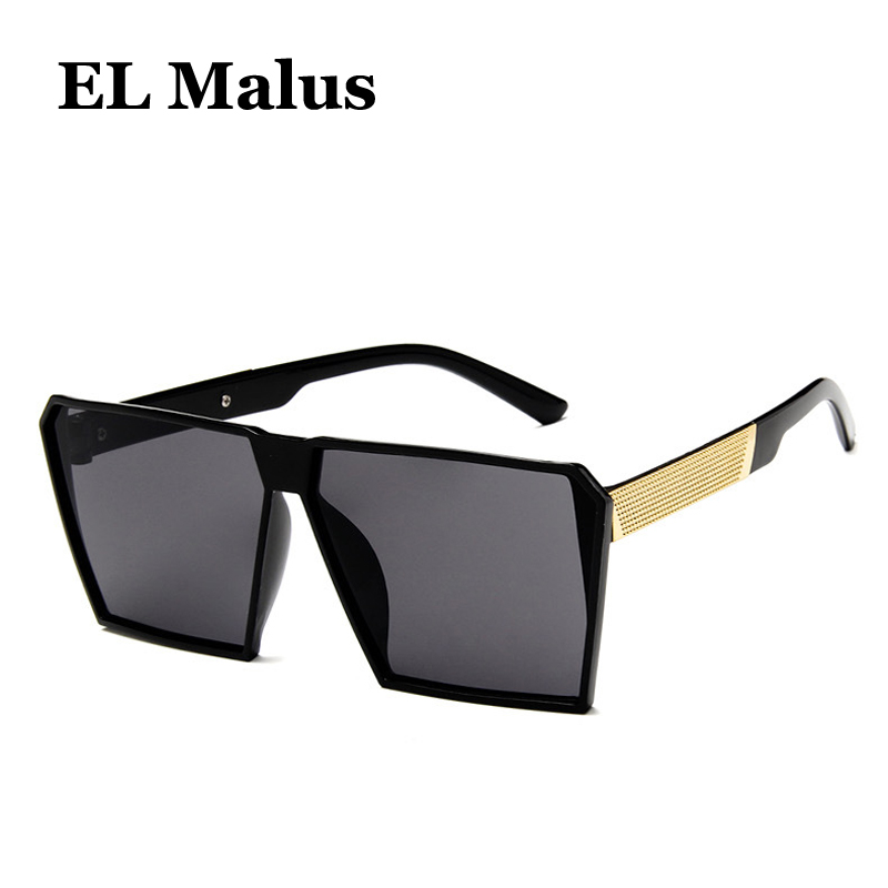 polarized Square Frame Sunglasses Men Male Night Vision Gray Silver Blue Lens Mirror Retro Brand Designer Sun Glasses el Malus Sunny