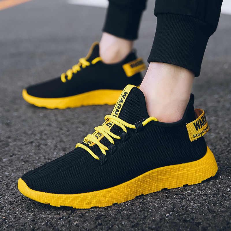 Yeni yaz erkek ayakkabıları gelgit 2020 rahat ayakkabılar kore erkek spor ve eğlence koşu ayakkabıları nefes örgü kırmızı ayakkabılar sneakers