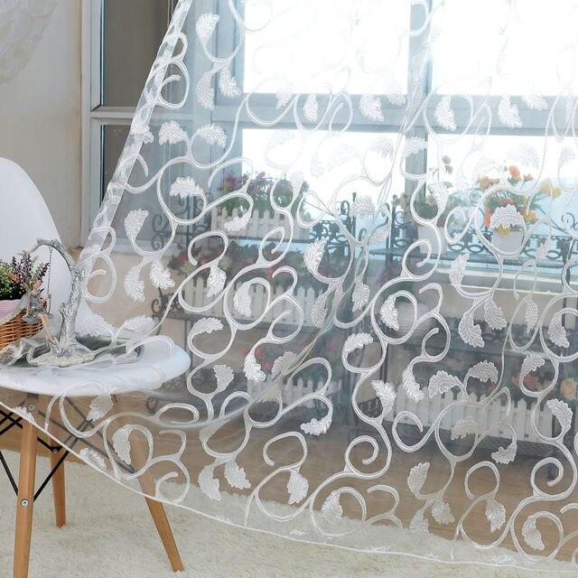 NAPEARL stile Americano jacquard floral design finestra tenda pura per la camera da letto tessuto di tulle soggiorno moderno ready made breve