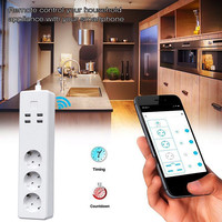 Newest Multifunctional WIFI Smart Socket Remote Sub Control Plug Socket EU Household Cars AutoWireless Plug Socket