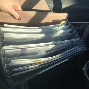 Image 5 - 귀여운 휴대용 확장 가능한 아코디언 12 포켓 A4 파일 폴더 옥스포드 확장 문서 서류 가방