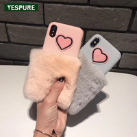 YESPURE 5 8inch Fancy Girls Cover Fur Cell Phone Covers For IPhone X Antigravity Phone Case