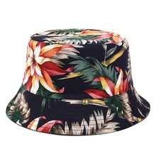 Fashion Printed Banana leaf Bucket Hat Women Hip hop Caps Fisherman Panama Cotton Sun Hats Casual Men