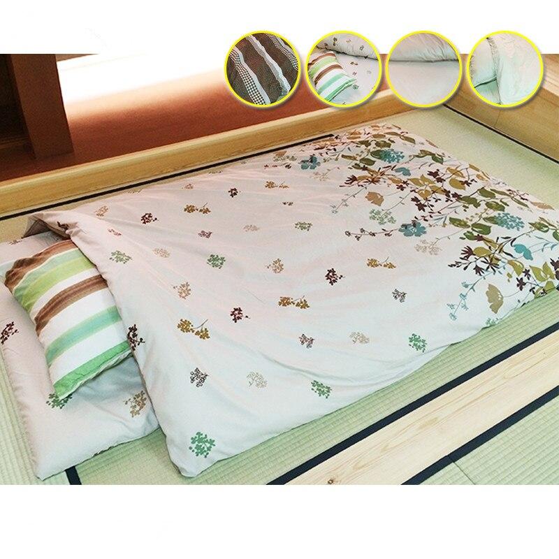 6pcs/set Futon Furniture Traditional Japanese Floor Futon Bed Comforter  Queen Size 150*210cm
