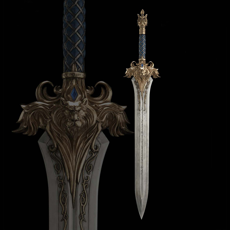 WOW The king of Stormwind Llane Wrynn I sword Lion sword length 120cm Full metal body