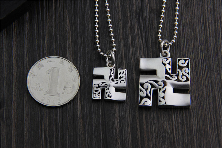 Buddhist Swastika 999 Sterling Silver Amulets And Talismans Pendants