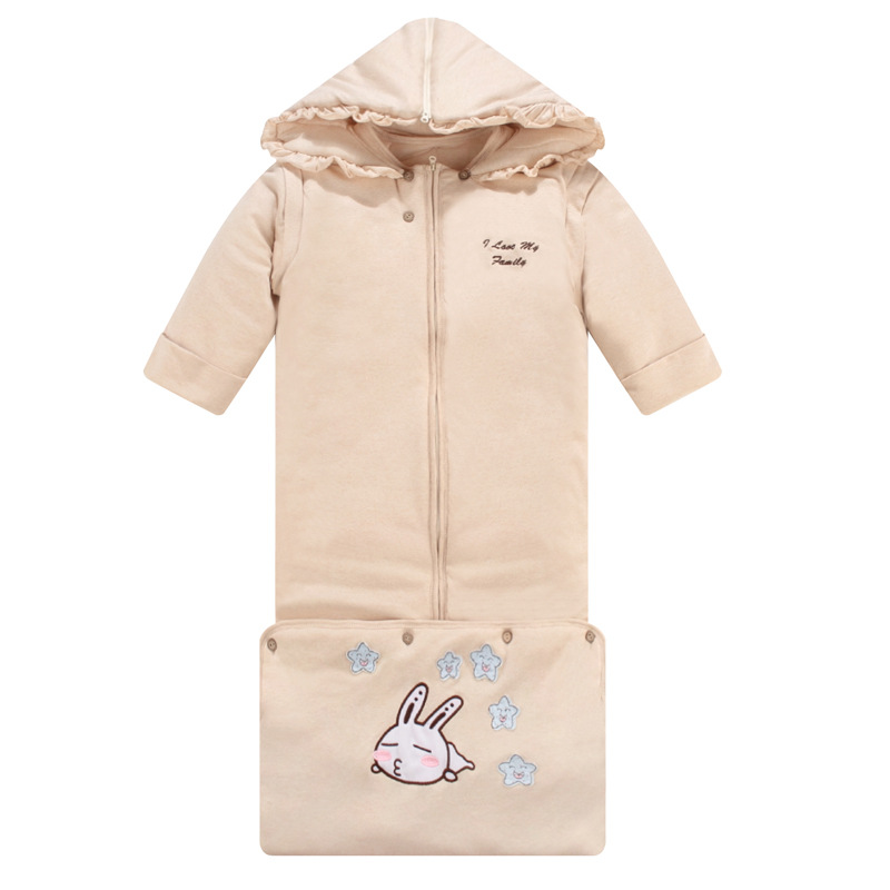 Oversized Infant Baby Sleeping Bag Winter Thicken Organic Cotton Hooded Sleeping Bag For Children 0-3years Hight Quality boy girl infant wrap envelop for newborns sleeping bag pure cotton printed with fawn patterns thicken in autum winter or sprin