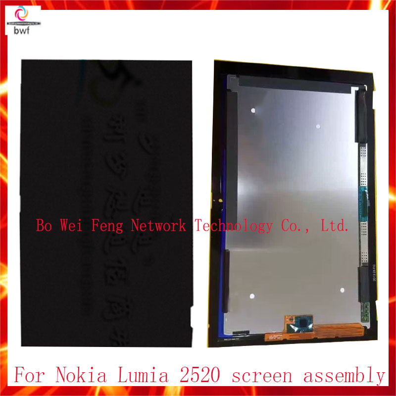 ФОТО 100% Tested Tablet PC For Nokia Lumia 2520 LCD Display Panel Screen+Touch Digitizer Glass Screen Assembly Part Free Shipping