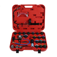 27Pcs Auto Car Water Tank Pressure Gauge Cooling System Leaking Radiator Pressure Tester Kits With Water Pipes Connector New