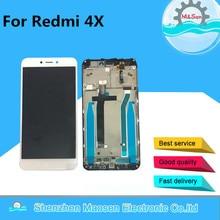 """M & Sen Para 5.0 """"Xiaomi Redmi 4X pantalla LCD + el panel de tacto digitalizador con marco negro/el envío libre blanco"""