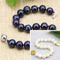 3 style natural white black freshwater cultured pearl 8-9mm beads strand bangle & bracelets for women gift jewelry 7.5inch B3175