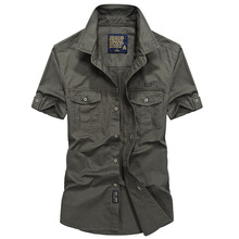 Мужские рубашки с коротким рукавом, дышащие, размера плюс S-4XL, летние, хлопок, спортивные, для кемпинга, альпинизма, тактика, армейские рубашки