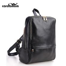 Кардамон женские кожаные рюкзаки большой Ёмкость черные сумки на ремне Модные женские рюкзак для девочек-подростков школа Дорожные Сумки