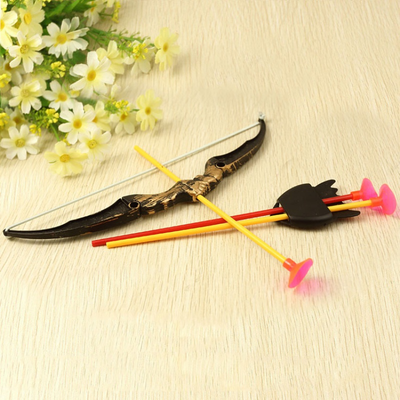 Shooting Outdoor Sports Toy Bow and Arrow Toy Set Plastic Toys for Children Kids Outdoor Funny Toys
