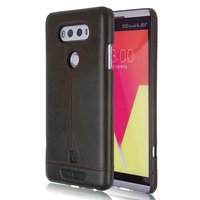 Pierre Cardin Luxury Back Case For LG V10 Genuine Leather Cell Phone Cases Ultra Thin Hard