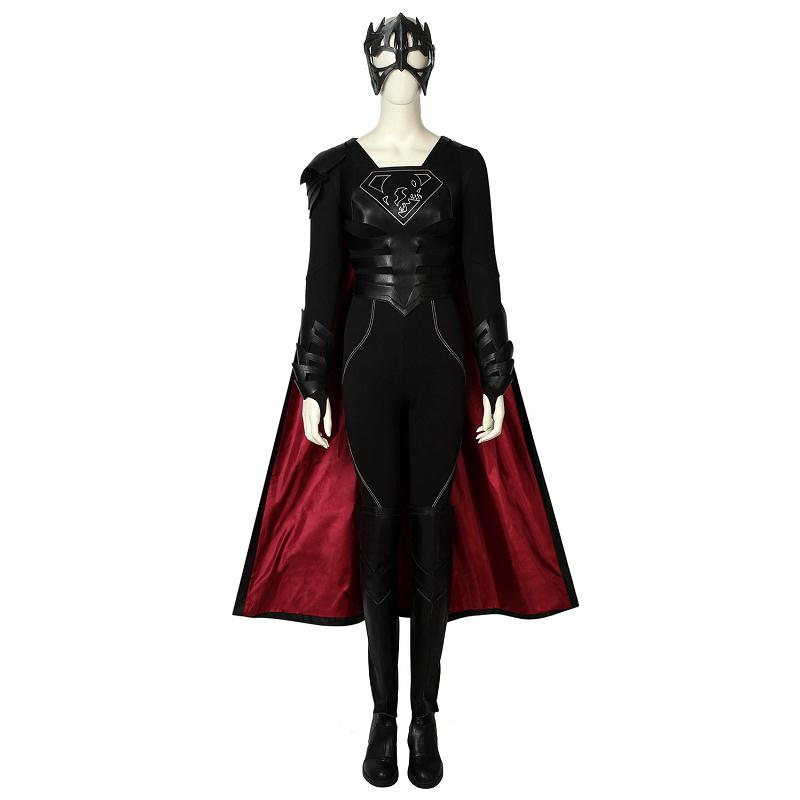 Supergirl Season 3 Cosplay Reign Samantha Arias Costume Jumpsuit Halloween Superhero Adult Women Carnival Outfit Full Set