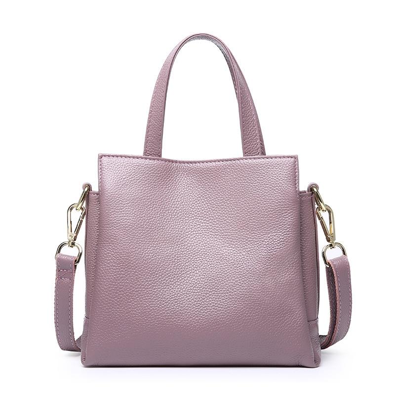 купить Women Genuine Leather Handbags Female Soft Shoulder Bags Ladies Tote Bag Bolsas Femininas Sac New Fashion Cross body Bags по цене 3257.08 рублей