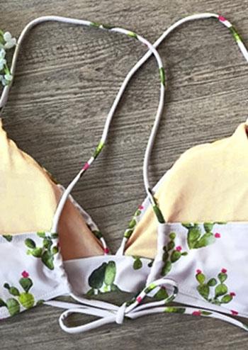 Cactus Pattern Bikini Set