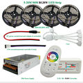 DC12V Led Strip Light 5050 SMD RGBW RGBWW Waterproof  + 2.4G RF Remote Controller + Power adapter Kit 5M 10M 15M 20M