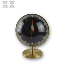 New style Designer Clock Desk Clock-Silence/Brass/Table Clock Wholesale Clock/Free Shipping small scale style paging desk clock black