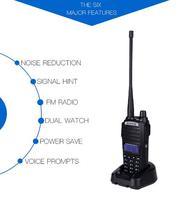 cb רדיו 1Sets UV82 כף יד UHF VHF משדר FM שתי דרך תחנת רדיו CB רדיו מכשיר הקשר Baofeng UV82 (3)