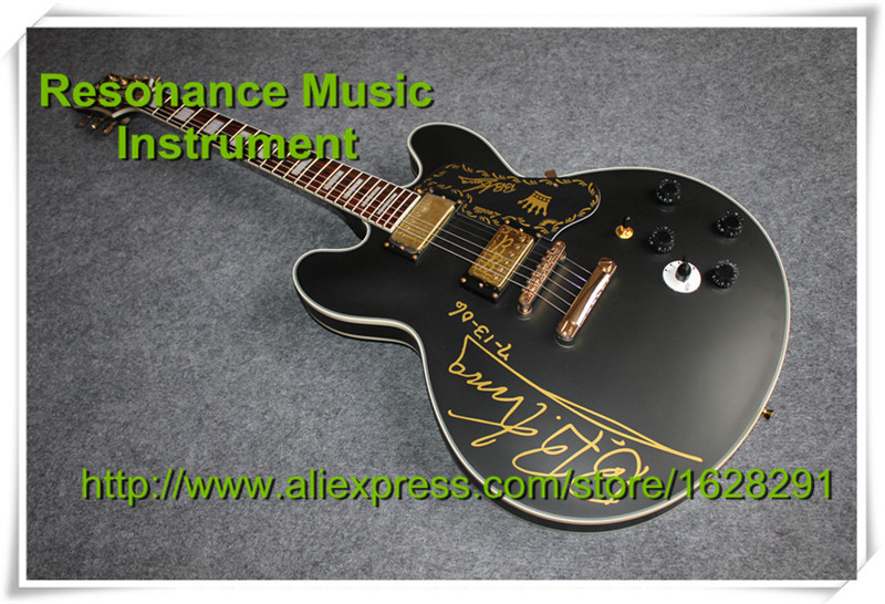 Hot Selling B.B.King Guitar ES Jazz Hollow Electric Guitarra In Stock For Shipping free shipping gretsch 6120 hollow body orange stain electric guitar in stock