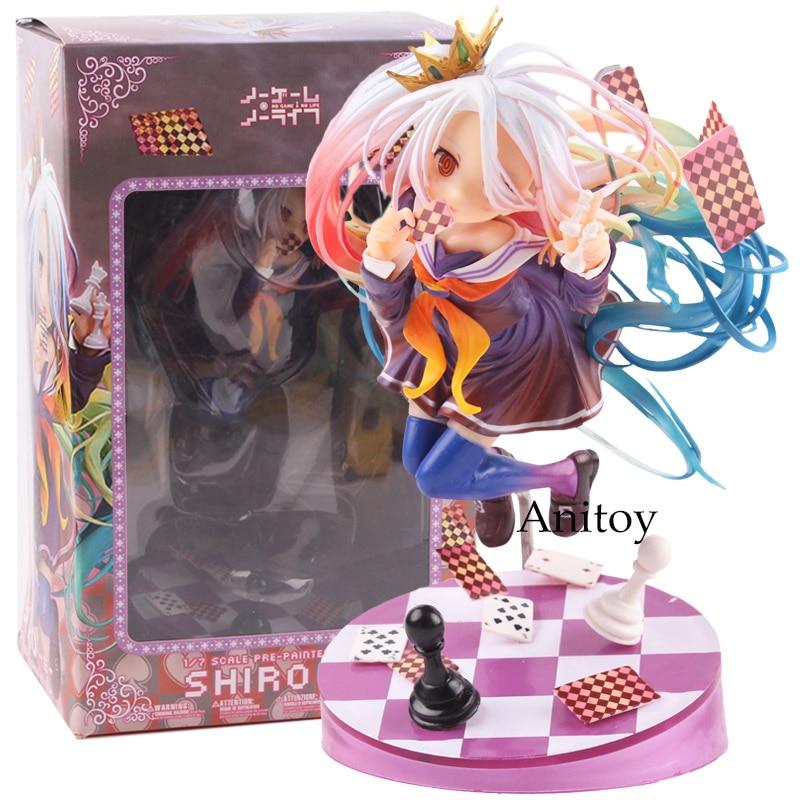 No Game No Life Shiro Figure 1/7 Scale Pre-Painted Figure PVC No Game No Life Figure Collectible Model Toy 15cm цена