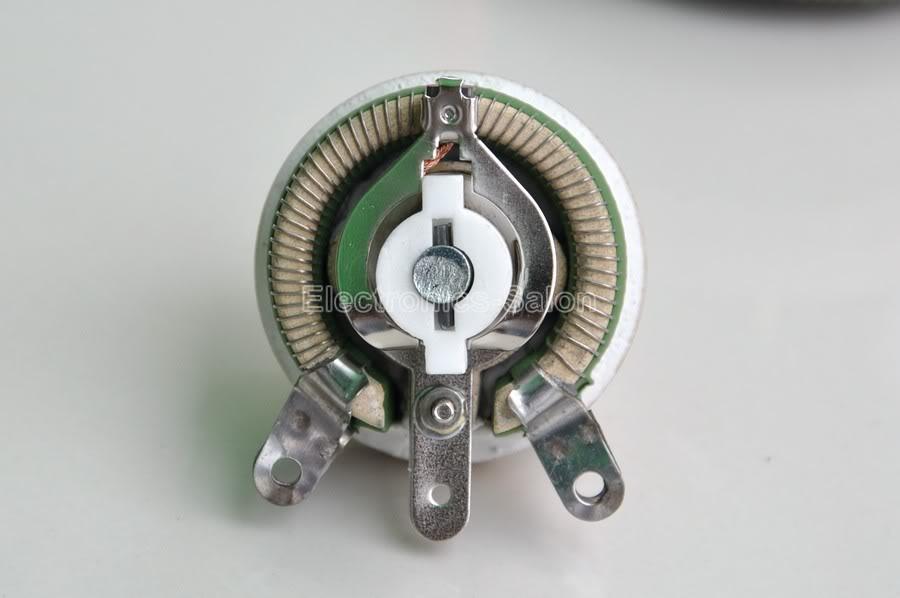 25W 10 Ohm Wirewound Potentiometer Power Rheostat Variable Resistor