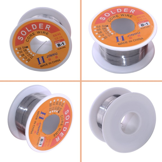Solder Wire 0.3/0.4/0.5/0.6/0.8/1.0mm Diam 60/40 63/37 Clean Rosin Core Welding Tin Lead Solder Iron Wire Reel Soldering Tools  4