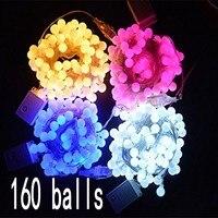 20 M 200 LED boule De Noël Fenêtre Rideau Balle Cerise Lumières Cordes Fée Lumière De Noce Maison Jardin Arbre Cour décorations