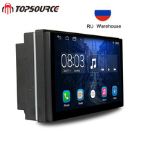 TOPSOURCE Car Radio Universal 2 din gps Anroid car multimedia player with RDS Bluetooth mp3 For VW NISSAN TOYOTA HONDA