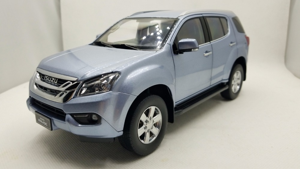 1:18 Diecast Model for ISUZU MU-X Silver Blue SUV Very Rare Alloy Toy Car Miniature Collection Gifts MUX MU X 1 18 diecast model for isuzu mu x silver suv alloy toy car miniature collection gifts mux mu x