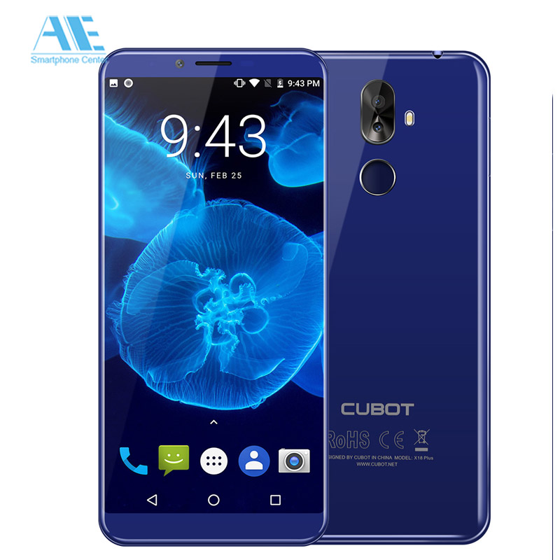 Cubot X18 Plus 599 Inch Mobile Phone 189 4GB RAM 64GB ROM MT6750T Octa Core Android 80 Cell 20MP 4000mAh 4G Smartphone
