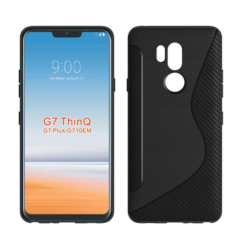 100 Stks/partij Nieuwe Ontwerp Case Voor Lg Q7 2018 S Line Tpu Zachte Telefoon Back Protector Cover Voor Lg G7 Thinq/g7 Plus G710em Een Compleet Scala Aan Specificaties
