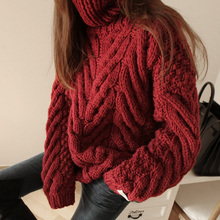 turtleneck Long Sleeve Pullover