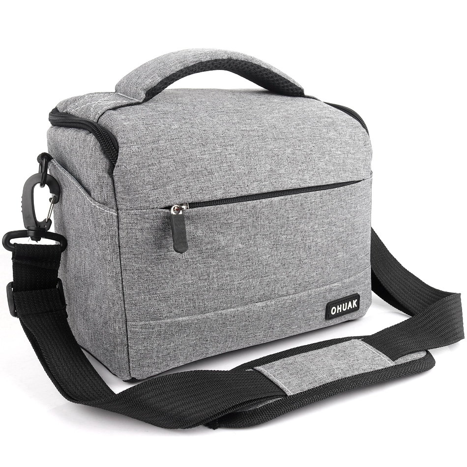 DSLR Cámara bolsa moda poliéster hombro bolsa Cámara funda para Canon Nikon Sony lente bolsa impermeable fotografía foto bolsa