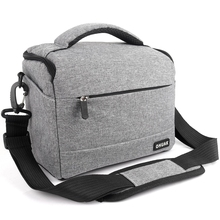 DSLR Camera Bag 패션 Polyester Shoulder Bag 카메라 Case 대 한 Canon Nikon Sony Lens Pouch Bag 방수 Photography Photo Bag(China)