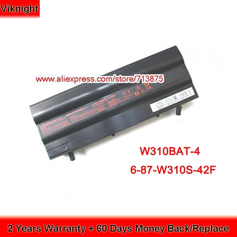 14.8V 2200mAh Clevo W310BAT-4 Battery 6-87-W310S-42F 6-87-w310s-4uf for Zoostorm W310CZ origianl clevo 6 87 n350s 4d7 6 87 n350s 4d8 n350bat 6 n350bat 9 laptop battery