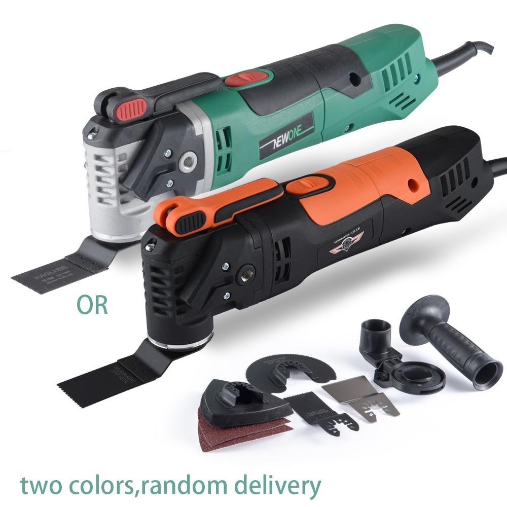 NEWONE sets Multi-Funktion Elektrische Sah Oszillierende Trimmer Startseite Erneuerer Werkzeug holzbearbeitung Werkzeug zwei farben gelegentliche anlieferung