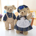 2 pcs 14Inch 35cm Teddy Bear Plush Animal Toys Joint Bear With Dress Chrismas Gift