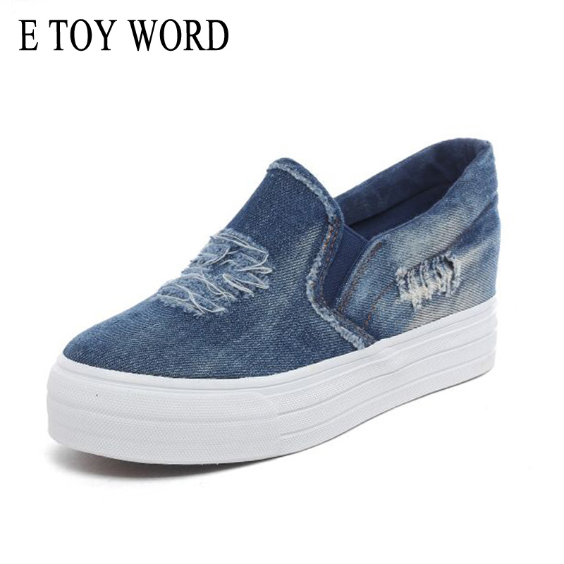 Navy Elk Deer Pattern Women's Casual Sneakers Shoes Skateboard Sports Spring Original
