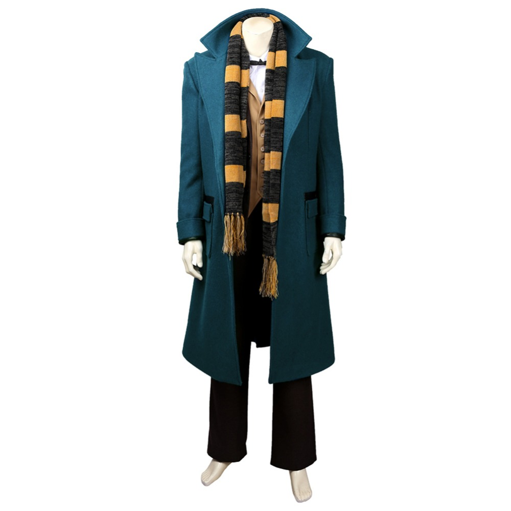 Fantastic Beasts:The Crimes Of Grindelwald Cosplay Newt Scamander Costumes Full Suit Halloween Costume