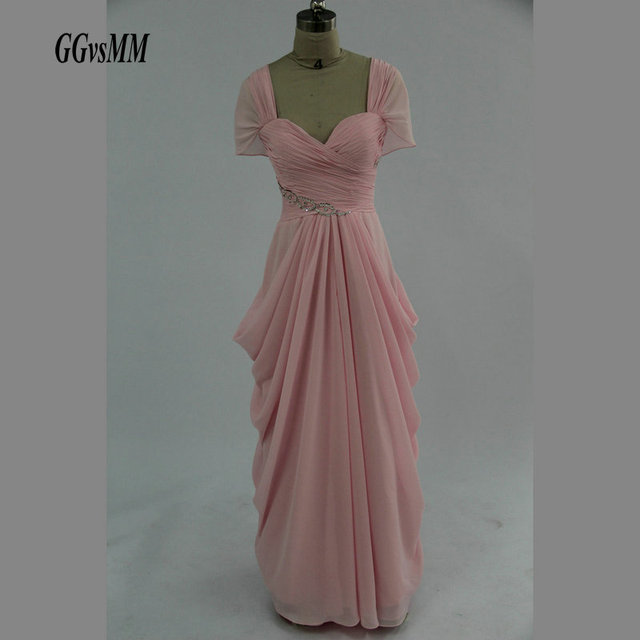 Fast delivery Pink Plus Size Evening Party Gown Long Custom Made ...