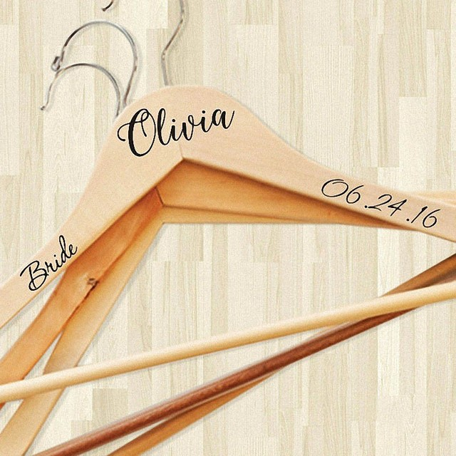 Personalized bride bridesmaid groom personalised wedding hanger with date custom bridal dress hanger custom