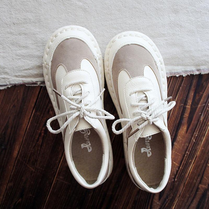 Nouveauté Étudiants 1 De Sneakers Art Chaussures Talon Main 2017 Automne 2 Sans À Blanc Nouveaux Femmes La wqr7w61a