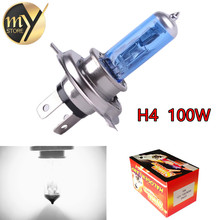 H4 100W 12V Halogen Bulb h4 super white Fog Lights High Power Car Headlights Lamp Car
