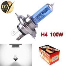 H4 100 Вт 12 В галогенная лампа H4 Супер Белый Туман огни высокой Мощность автомобиля Фары для автомобиля лампа источник света автомобиля парковка 100 Вт
