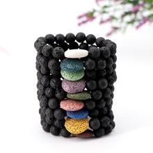 цена на Howlite Bracelet Lava Stone Diffuser Bracelet Couples Bracelet Aromatherapy Bracelet Set for Essential Oil